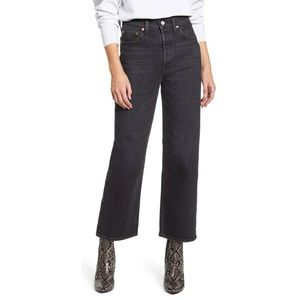 Levis High Waist Straight Ankle Jeans